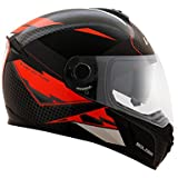 Vega Ryker D/V Bolder Full Face Helmet (Black/Orange, M)