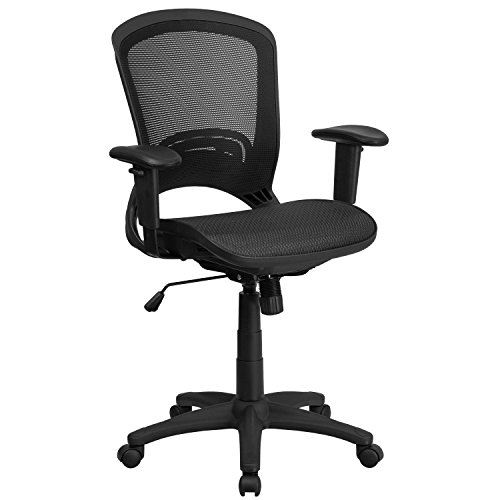 flash-furniture-hl-0007t-gg-mid-back-black-mesh-executive-swivel-office-chair-with-height-adjustable