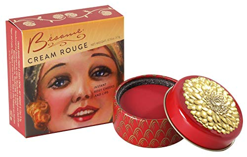 - Besame Cosmetics: Cream Rouge - Vintage Blusher - Create Natural Blushing Cheeks, Blends With Any Skin Tone, Paraben Free