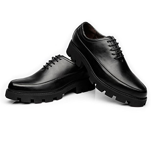 2018 Lace da PU EU Up Scarpe casual pelle traspirante Pelle Color Dimensione shoes Jiuyue Fodera Outsole forte Oxfords Foderato uomo Nero in Matte Prom Uomo 39 Nero Scarpe In7z5fwxq