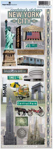 Paper House New York #2 Travel & Vacation Cardstock Scrapbook Stickers (1-Pack), stcx-0034e