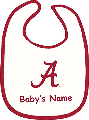 (Future Tailgater Alabama Crimson Tide Personalized 2 Ply Baby Bib)