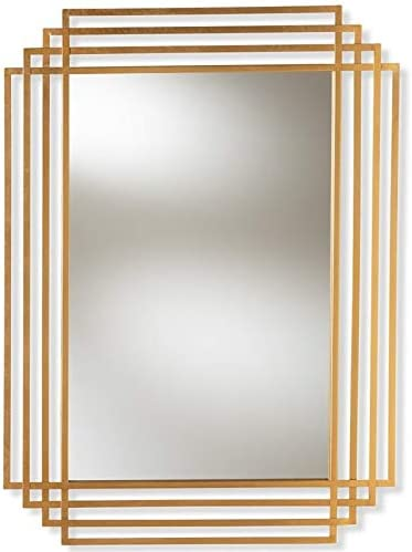 Baxton Studio 44 in. Accent Wall Mirror in Antique Gold