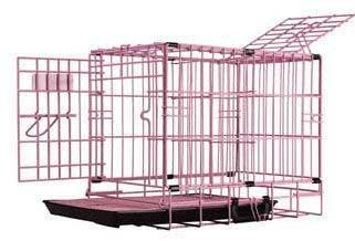 Dreamcrate Professional Mesh Floors - Pet Tek DPK86011 Dream Crate Professional Series 100 Dog Crate with Mesh Floor, 19 by 12 by 15-Inch, Pink