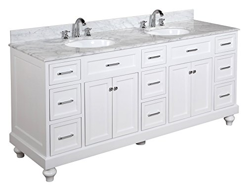 Kitchen Bath Collection KBC72ATQWTCARR Palazzo Bathroom Vanity