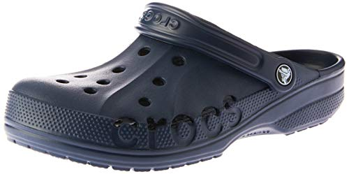 Crocs Mens and Womens Baya Clog, Navy, 13 US Women / 11 US Men