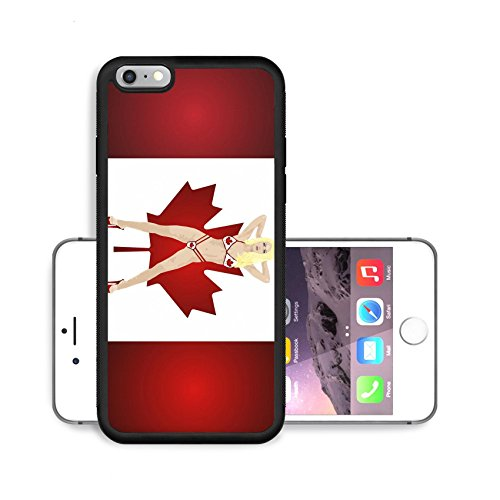 Luxlady Premium Apple iPhone 6 Plus iPhone 6S Plus Aluminium Snap Case IMAGE ID 2465815 illustration of woman in Canadian bikini on flag of Canada background