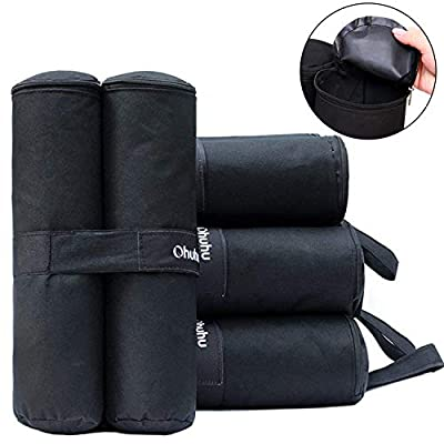 Ohuhu Canopy Weight Bags for Pop up Canopy Tent, Sand Bags for Instant Outdoor Sun Shelter Canopy Legs, 4-Pack (Bags Only, Sand Not Included) : Garden & Outdoor