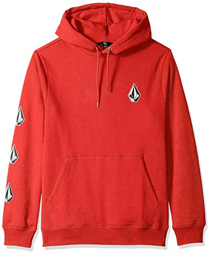 Volcom Men's Deadly Stone Pullover Hooded Fleece Sweatshirt, Spark red, Extra Large ()