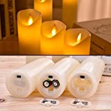 JUNPEI Flameless Candles Flickering LED Candles