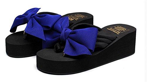 pengweiSandalias de verano de las se?oras tal¨®n de la cuesta Flip Zapatillas de playa del pie del clip de la manera 5