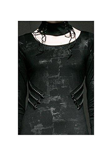 Robe asymétrique sur tunique de style punk rave harley q-241 rockabilly