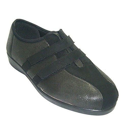 Type femme pantoufle chaussures à velcro Lycra Doctor Cutillas en gris