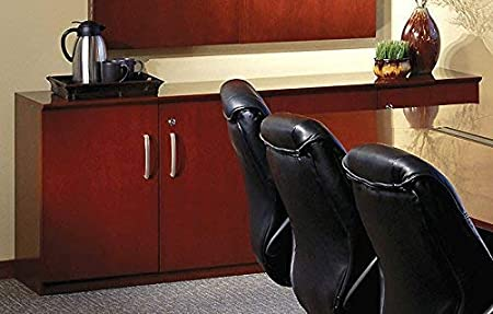 Conference Office Room Credenza 72 All Wooden Doors, Cherry Office Storage 4 Door Credenza Cabinet