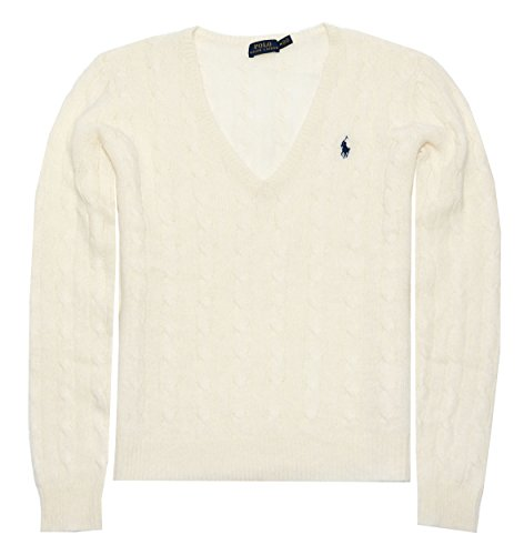 mens Merino Wool Sweater (XS, Cream) ()