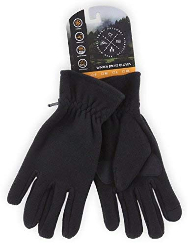 Fleece Gloves - Touchscreen, Thermal Soft Fleece Gloves for Winter Warmth - Fits Men and Women - Ladies Fleece Winter Glove