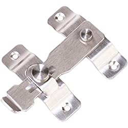 Stainless Steel Sliding Barn Door Latch Lock Locking Barns Sliding and Double Doors Hasp lock for Window Cabinet Garage and Shed Flip Gate Latches Bar Latch Safety Heavy Duty Security Barrel Bolt
