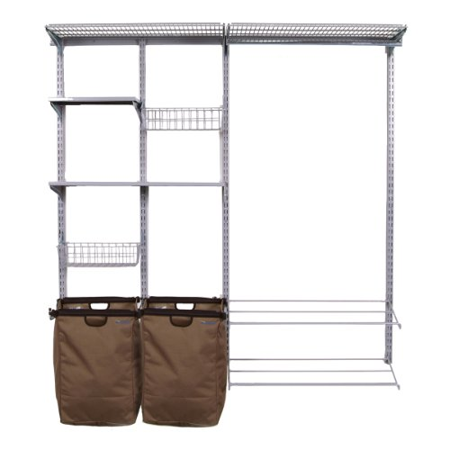 Triton Products 1750 Storability Garment Wall Mount Storage System 66-Inch L by 63-Inch H with 2 Shop/Rag Bags, Boot Rack, 2 Wire Shelves, 2 Wire Baskets, 2 Steel Shelves and Hardware