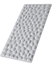 Non-Slip Rubber Bath Mats, Yolife 31.5x15.75 inches Shower Bathmats with Hundreds of Suction Cups, Machine Washable Bathroom Bathtub Mats for Kids, Elderly(Grey)