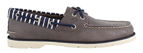- SPERRY Men's, Leeward Boat Shoe Grey Stripe 11 M