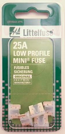 41J2Az CwZL._SY463_ amazon com littelfuse lmin025 vp mini low profile 25 amp carded  at reclaimingppi.co