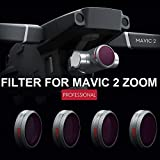 Filter for Mavic 2 Zoom, Elevin(TM) for DJI Mavic 2 Zoom Drone ND8 ND16 ND32 ND64 Waterproof Camera Lens Filters