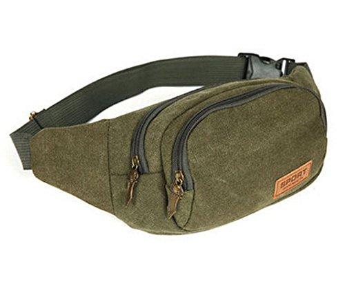 Durable Canvas Sporttasche Outdoor-Rucksack Taschen Kleine Knapsack,Armeegrün
