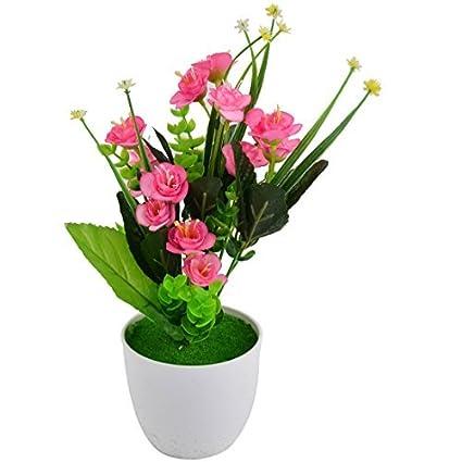 eDealMax plástico compartida arte de DIY decorativo Artificial de Emulational Flor DE 14.2 pulgadas Altura