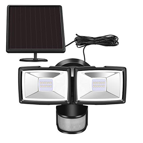 Solar Security Lights - Sunwind Solar Motion Lights Outdoor - 1000 Lumens Output Sunwind Adjustable Dual Head Solar Flood Light Outdoor Waterproof for Entryways, Patio, Yard, Garage [並行輸入品] B07RB2FR96