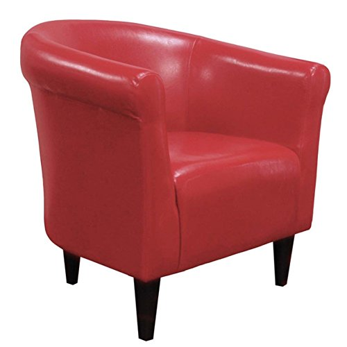 Zipcode™ Design Savannah Barrel Chair, Contemporary Style, Red