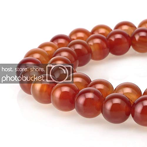 - Top Quality Natural Carnelian Agate Gemstone 6mm Round Loose Beads 15.5