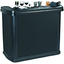 Carlisle 755003 Maximizer Portable High Top Entertainment Bar, Black