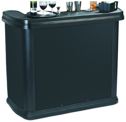 Carlisle 755003 Maximizer Portable High Top Entertainment Bar, Black
