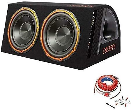 Inex Ecke 12in 1800w Max Doppel Aktiv Auto Audio Bass Box Subwoofer Gehäuse Amp Set Audio Hifi
