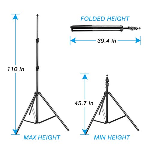 Emart Portable Photo Studio 9.2x10ft Background Support System with 3 Color Muslin Backdrops (Green Black White, 10ft X 12ft) for Portrait, Product Photography and Video Shooting by EMART (Image #2)