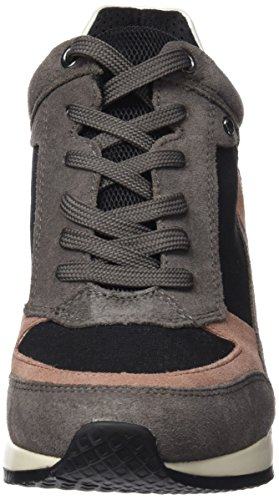 black Femme A Hautes Geox dk Sneakers Grau D Greyc0005 Nydame wRqg04