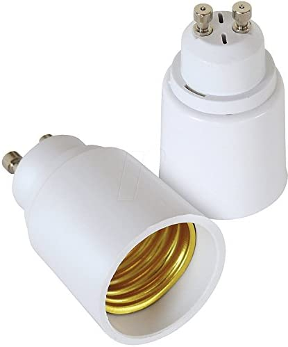 YiLighting (GU10 to E26/E27 Adapter) - GU10 Bayonet Base to E26/E27 Edison Screw Bulb Socket Adapter Converter