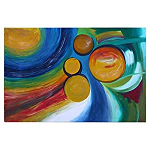 GrandUAE Canvas Multi Color Painting - Abstract