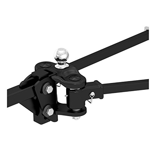 CURT 17501 TruTrack Black Trunnion Bar Weight Distribution Hitch with Integrated Sway Control (15,000 lbs. GTW, 2