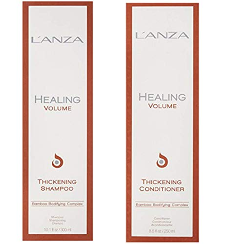 2 Packs Healing Volume Thickening Hair Shampoo 10.1 Oz Conidtioner 8.5 Oz