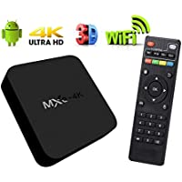 Smart MXQ Android TV Box Model 2017 WiFi 4K Media Streaming Player with Quad Core Processor Simplified Set Up and Easy To Use Ultra HD Resolution