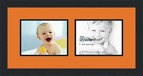 ArtToFrames Collage Photo Frame Double Mat with 2 - 6x8 O...