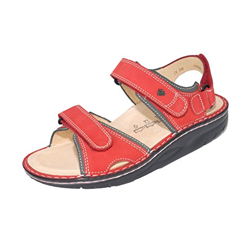 Red Yuma Comfort Sandals Finn Street Leather 1561 Womens f8an1qY