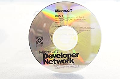 Microsoft Developer Network Visual Studio 97 Disc 3 Visual C++ 5.0 Enterprise Edition-Disc #3 Part Number: 96127-Date: March 1997-PC Computer Software Program-Single Replacement Disc