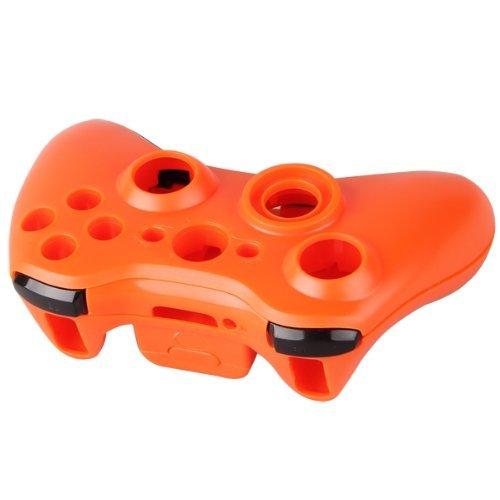 SODIAL (R)Coque Housse Etui Sans Fil + Bouton pour Manette Xbox 360 Orange 012412