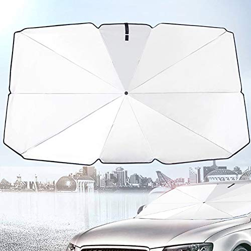 Gyrategirl Car Windshield Sun Shade, Ultraviolet and High Temperature Sunshade Protector Foldable Reflective Car Sun Umbrella, Keep Car Cool, 57×31 inch/49×25.6 inch