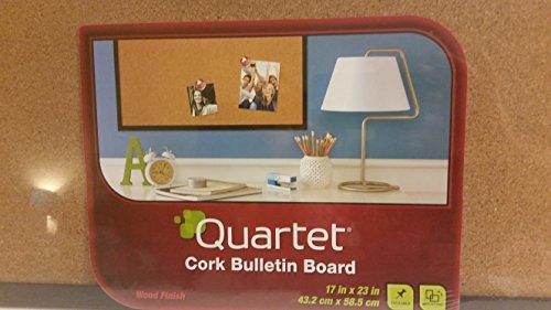 Bulletin Board Quartet Cork Bulletin Board With Wood Finish Boarder Size 17 in x 23 in