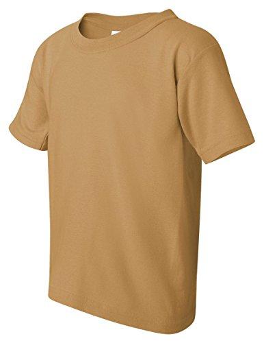 Gildan Big Boys' Heavyweight Taped Neck Comfort T-Shirt, X-Small, Old - Big Crewneck Tee Gildan Mens