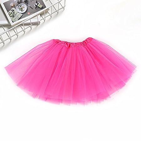 Ocamo Falda de Ballet para niña, 3 Capas, clásica, Lisa, con ...
