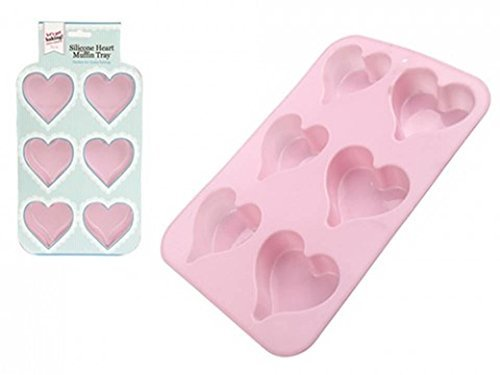 Lets Get Baking PMS GET BAKING! 6 CUP HEART SHAPE MUFFIN TRAY HANGING SLEEVE Let' s Get Baking